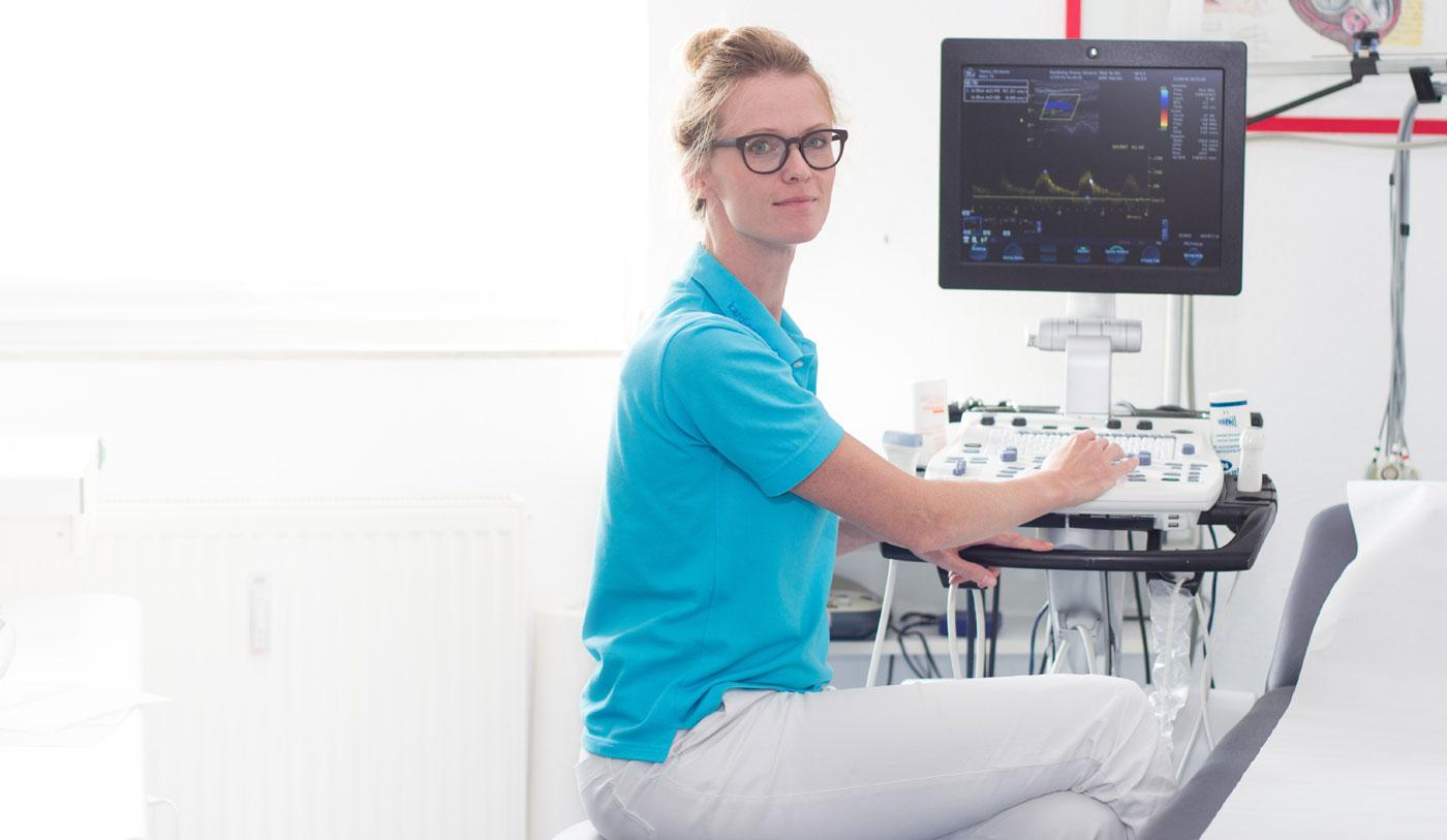 Dr. Boschke in der Kardiologiepraxis